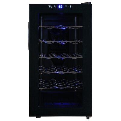 18 Bottle Single Zone Freestanding Wine Refrigerator by AKDY