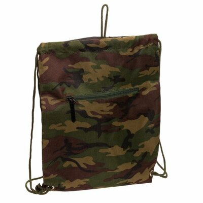 Camouflage Drawstring Backpack by World Traveler
