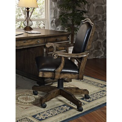 Chelsea High-Back Leather Executive Office Chair with Arms by Turnkey LLC