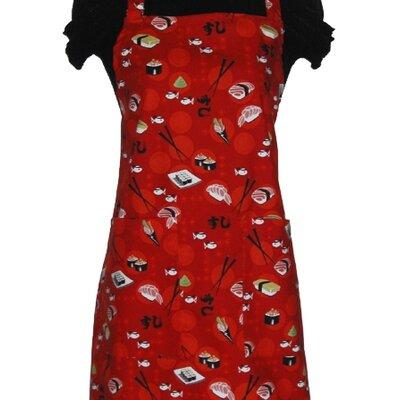Sassy Cook'n Let's Sushi! Women's Bib Style Apron