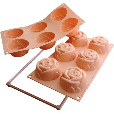 6 Rose Mold by SilikoMart