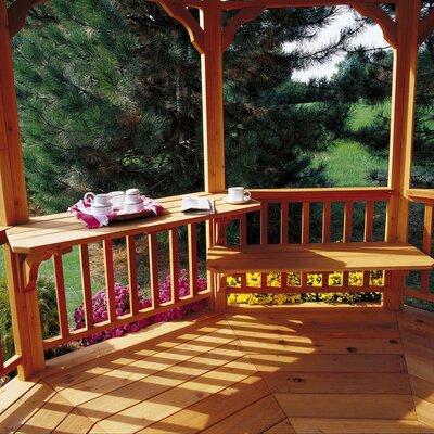 """Handy Home San Marino & Monterey 1' H x 3' 11"""" W x 1' 3"""" D Gazebo Bench or Table"""