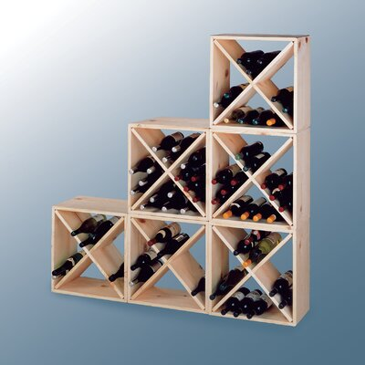 Country Pine Cube 24 Bottle Wine Rack by Wine Cellar