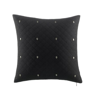 Rock Out Quilted with Skull Studs Decorative Throw Pillow by Betsey Johnson