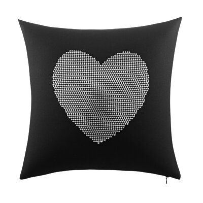 Rock Out Heart Sequin Decorative Throw Pillow by Betsey Johnson