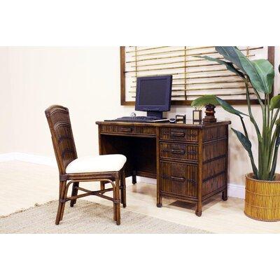 Hospitality Rattan Polynesian Computer Desk with Keyboard Tray