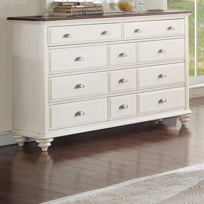 Floresville 11 Drawer Dresser with Mirror by Homelegance