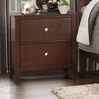 Cullen 2 Drawer Nightstand by Homelegance