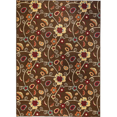 Kings Court Brown Partridge Floral Rug by Well Woven