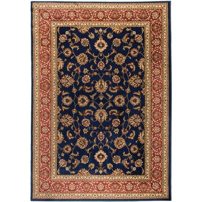Well Woven Barclay Sarouk Border Navy Area Rug