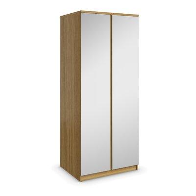 AlpenHome Betria Bedroom Mirrored 2 Door Wardrobe