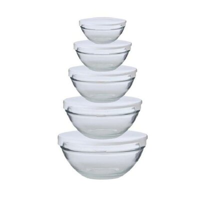 Alpine Cuisine 10-Piece Nested Glass Bowl