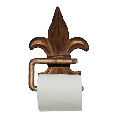 Hickory manor house fleur de lis wall mounted toilet paper holder reviews wayfair supply - Fleur de lis toilet paper holder ...