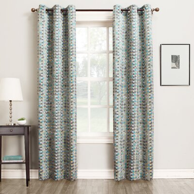Millennial Rick Room Darkening Single Curtain Panel Product Photo