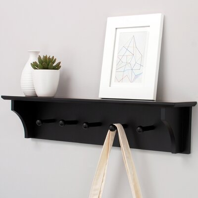 Foster Wall Shelf with 5 Peg by nexxt Design