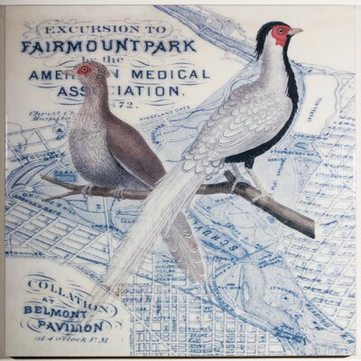 Two Pheasants Vintage Advertisement on Canvas by Elizabeth Lucas Company