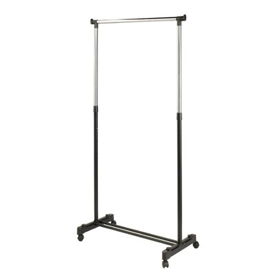 Ayana Adjustable Rolling Clothing Rack by Linen Depot Direct