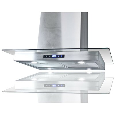 """30"""" Convertible Island Range Hood in Stainless Steel Product Photo"""