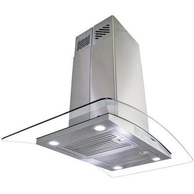 """35.4"""" 870 CFM Convertible Island Range Hood in Stainless Steel Product Photo"""
