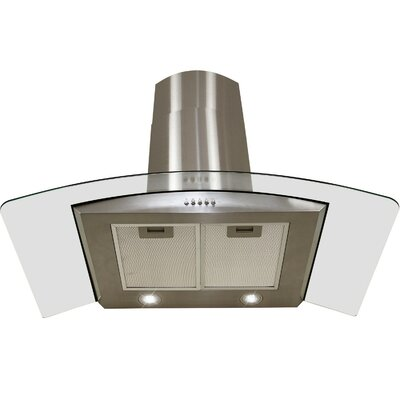 "29.4"" Convertible Wall Mount Range Hood in Stainless Steel Product Photo"
