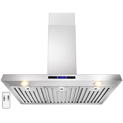 """35.5"""" 760 CFM Convertible Wall Mount Range Hood in Stainless Steel Product Photo"""