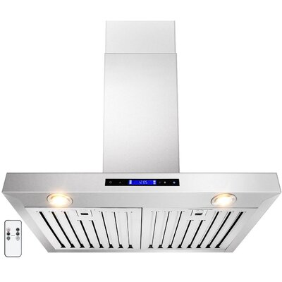 "30"" Convertible Wall Mount Range Hood in Stainless Steel Product Photo"