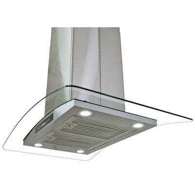 """29.5"""" Convertible Island Range Hood in Stainless Steel Product Photo"""