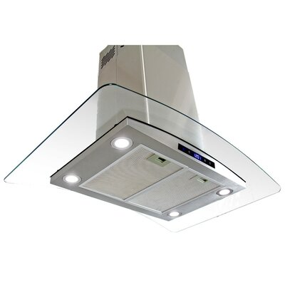 29.5' 870 CFM Convertible Island Range Hood in Stainless Steel Product Photo