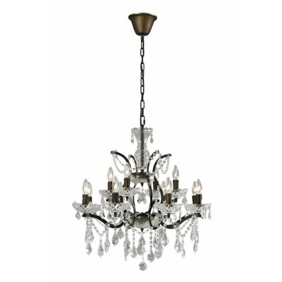12 Light Crystal Chandelier by CDI International