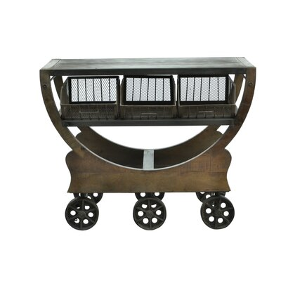 Industrial Trolley Console Table by CDI International