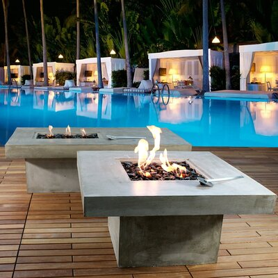 zement bauhaus concrete eco alcohol fire pit table wayfair. Black Bedroom Furniture Sets. Home Design Ideas