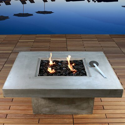 Zement bauhaus concrete eco alcohol fire pit table wayfair for Alcohol fire pit