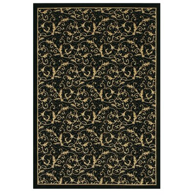 Everest Royal Scroll Black Area Rug by Couristan