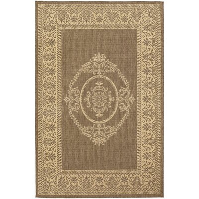 Recife Natural/Cocoa Antique Medallion Indoor/Outdoor Area Rug by Couristan