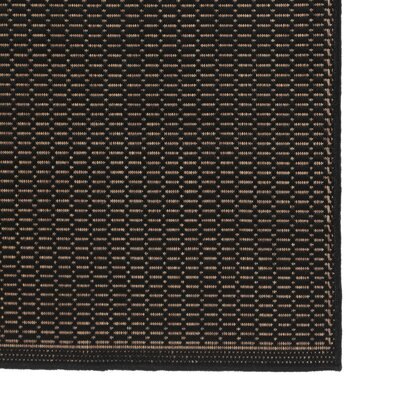 Couristan Recife Saddle Stitch Black Cocoa Indoor/Outdoor Area Rug