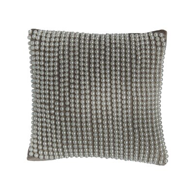 All Over Pearl Velvet Throw Pillow by Cloud9 Design