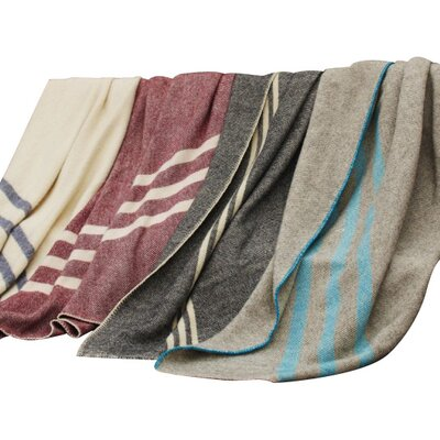 Coyuchi Striped Wool Throw Blanket