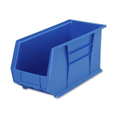 """Akro-Mils Bins, Unbreakable/Waterproof, 8-1/4""""x18""""x9"""", Blue"""