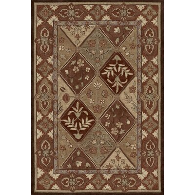 Dalyn Rug Co. Galleria Chocolate Floral Area Rug
