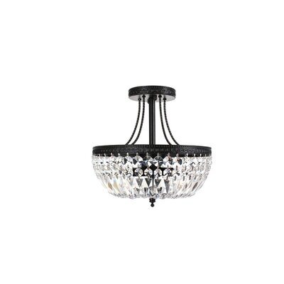 Achenar 3 Light Semi Flush Mount Product Photo