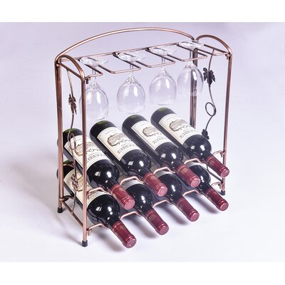 Collapsible 8 Bottle Tabletop Wine Rack by Wellyer