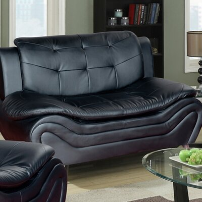 Linda Leather Loveseat by Beverly Fine Furniture
