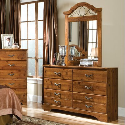 Hester Heights 6 Drawer Dresser with Mirror by Standard Furniture