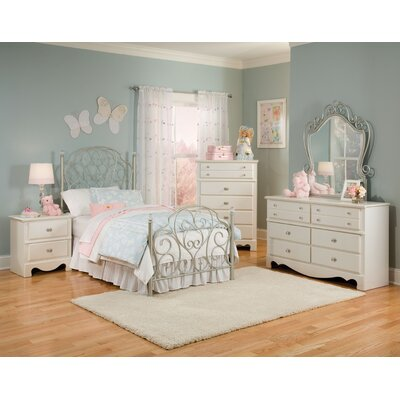 Standard Furniture Spring Rose Panel Customizable Bedroom Set