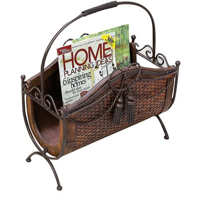 Toscana Wood and Metal Magazine Rack by Cole & Grey