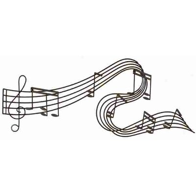 Cole & Grey Toscana with Music Notes Wall Décor