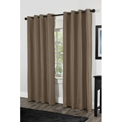 Shantung Faux Silk Thermal Grommet Top Window Curtain Panels (Set of 2) Product Photo