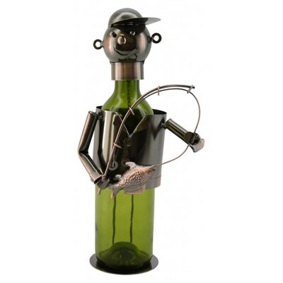 Fisherman 1 Bottle Tabletop Wine Rack by Three Star
