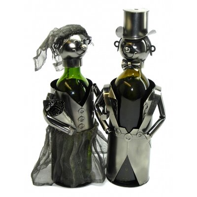 Bride and Groom 2 Bottle Tabletop Wine Rack by Three Star