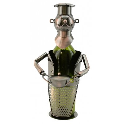 Chef with Pot 1 Bottle Tabletop Wine Rack by Three Star